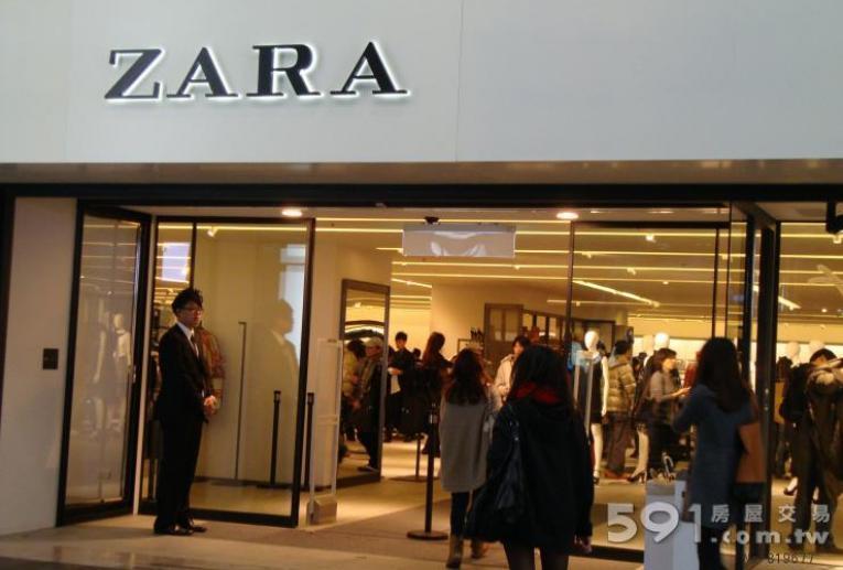 台北租屋,大安租屋,店面出租,ZARA統領旗艦店--統領明曜百貨精品商圈